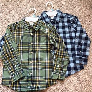 Carter's Button Down Shirts. NWT.